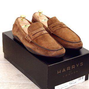 NIB * $425 Harrys London KUDU Suede 10.5 M * Trees